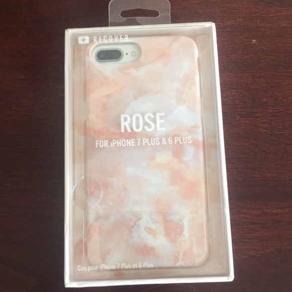 pretty nice f9fca f4975 Brand New Pink Marble iPhone 6/7 Plus Rubber Case NWT